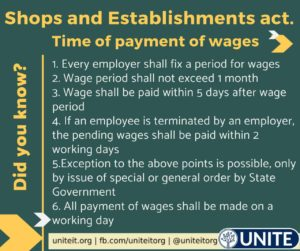 Time of Payment of Wages - 24/08/2020