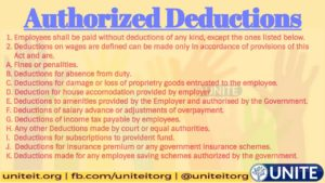 What are Authorized Deductions - 25/08/2020