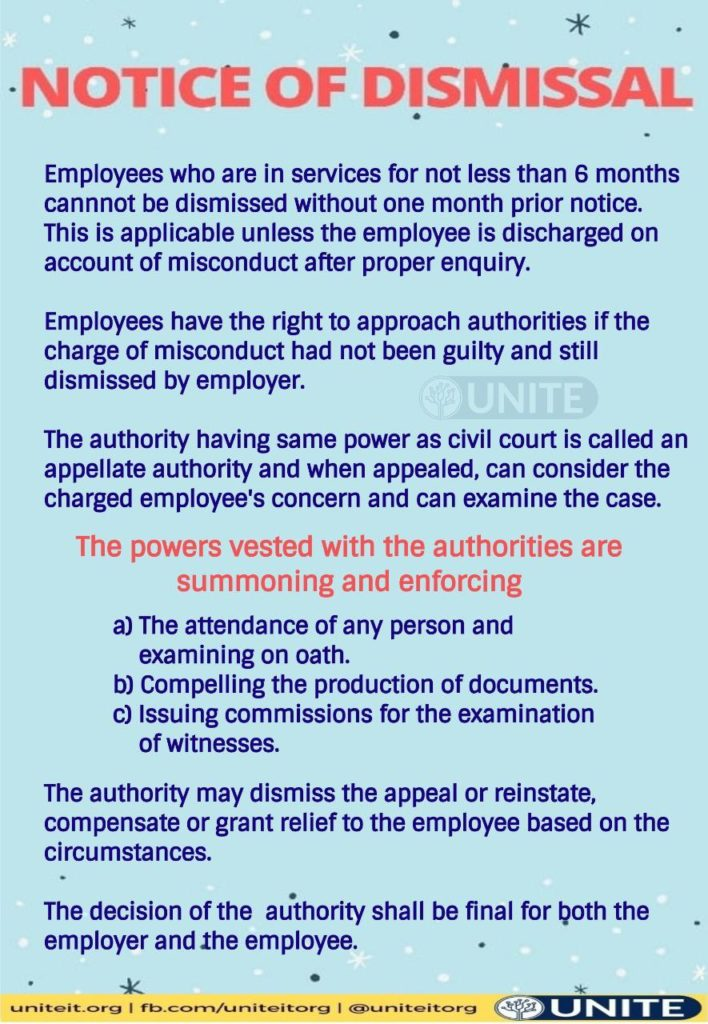 How to challenge dismissal  - 08/09/2020