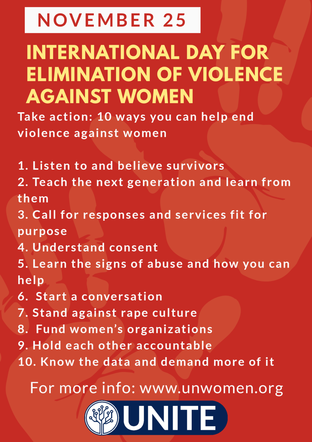 Ending violence against women is everyone's business.