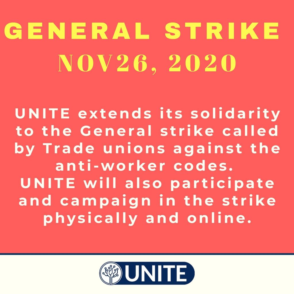 IT and ITES Employees extends solidarity to General Strike