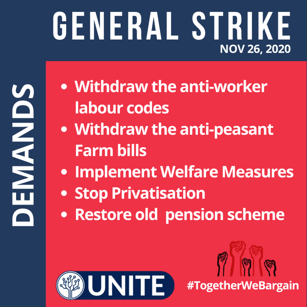Demands of IT & ITES Employees in General Strike