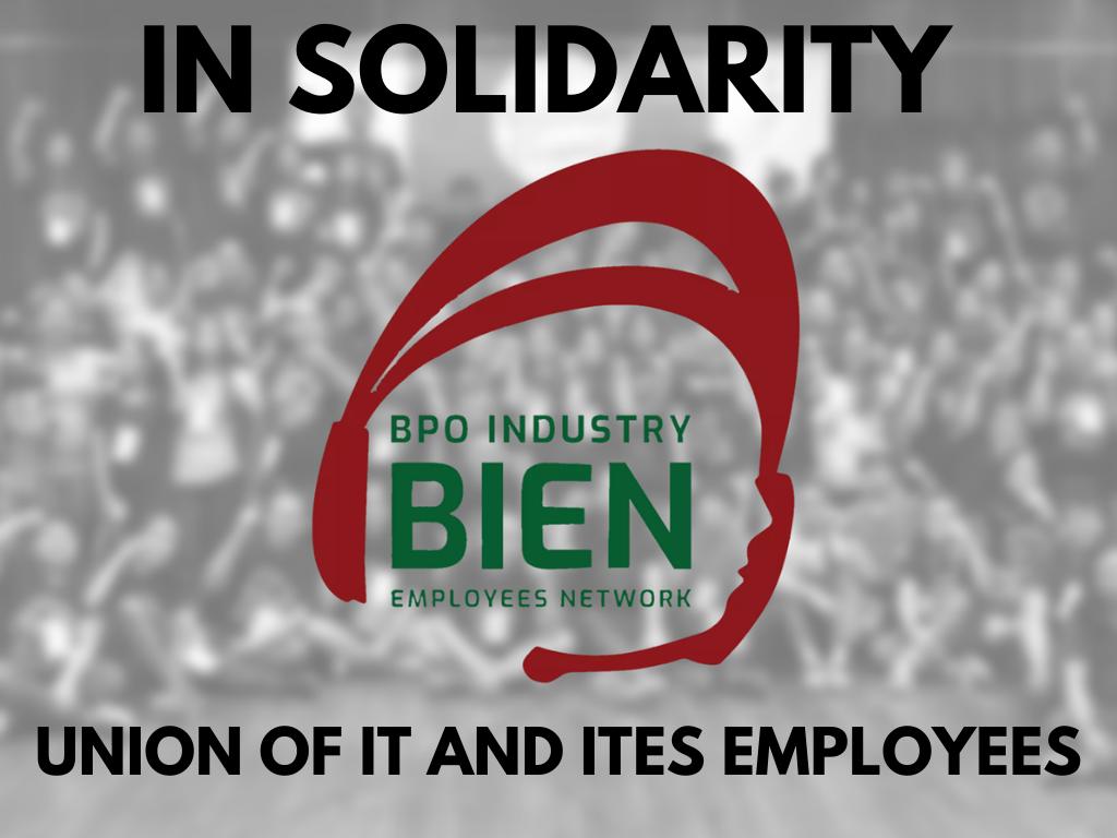 UNITE solidarity to BIEN