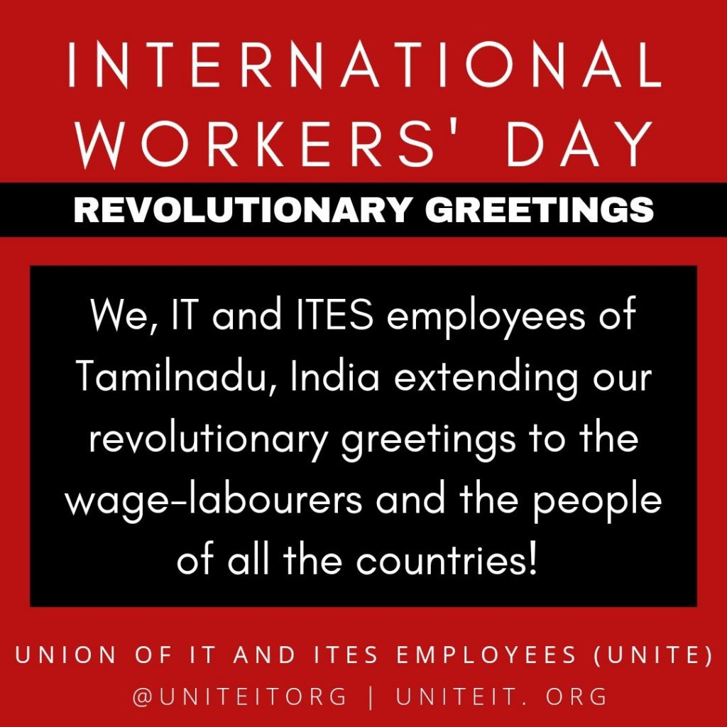 IT and ITES Employees May Day Greetings
